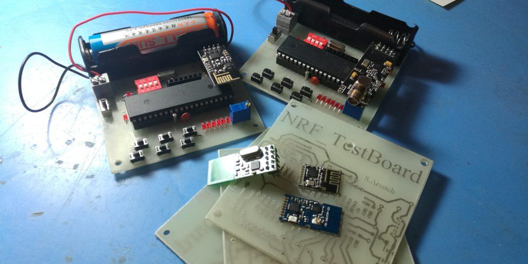ساخت برد تست برای انواع ماژول های- NRF24L01
